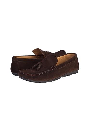 Kiğılı Süet Püsküllü Loafer Ayakkabı Kahve